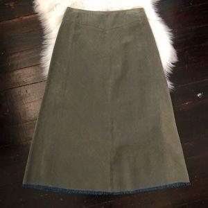 vintage Talbots corduroy a-line skirt green size 4